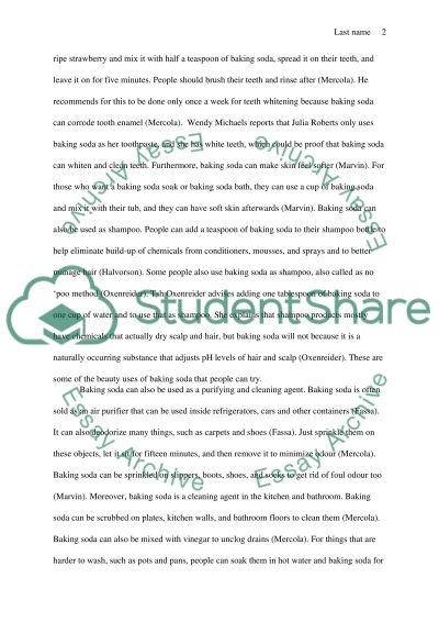 Fact Paper Essay example