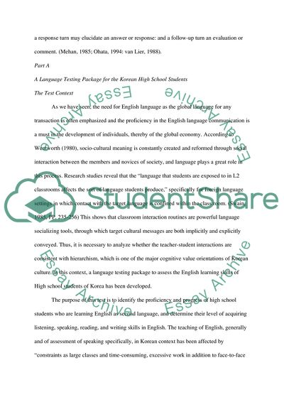 Sample Thesis Essay  High School Argumentative Essay Topics also Sample Essays High School Students Language Assessment For Korean High School Students Learning  English Essay Topics