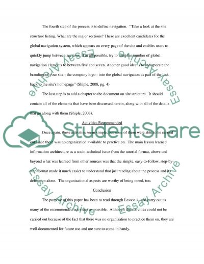 Website development.The recommended activities. Part 4. Essay example