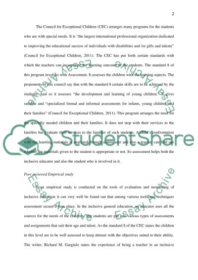 Inclusive General Education and Special Education : Instruction Evaluation and Monitor Process essay example