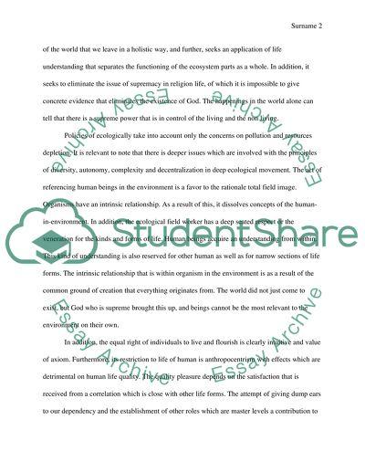 Ecology: Short Essay on Ecology