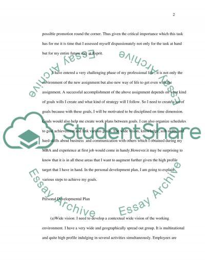 Personal Effectiveness Essay essay example