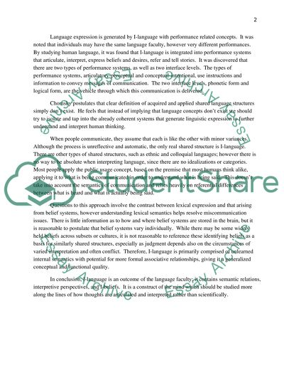 Briefing note on philosophy article