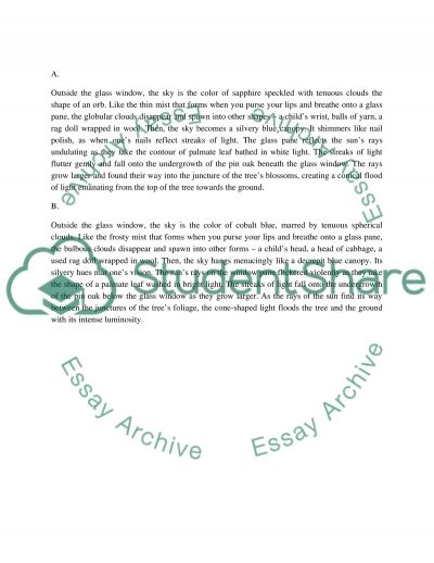 English: assignment essay example