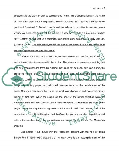manhattan essay