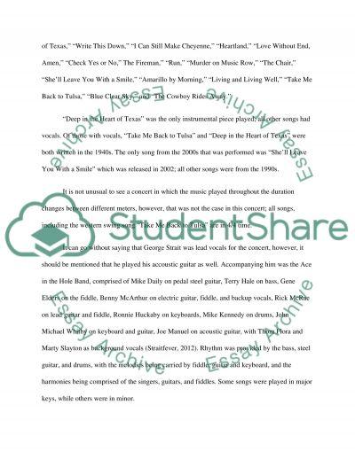 Concert Paper 1 essay example
