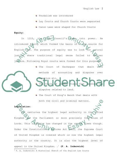 Law essay example
