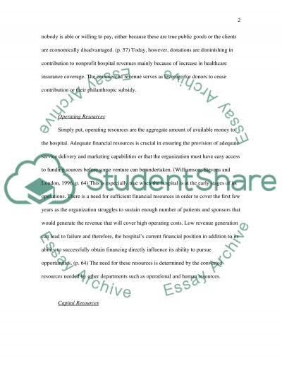 Resource Allocation essay example