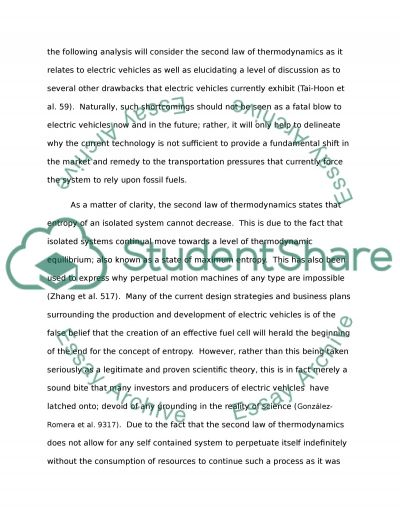 Electric Vehicles Term Paper example