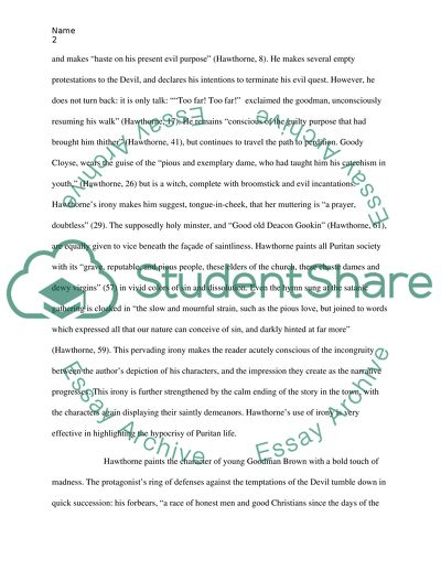 Essay On Cow In English Analysis Of Young Goodman Brown Science And Religion Essay also Thesis Statement In Essay Analysis Of Young Goodman Brown Essay Example  Topics And Well  Thesis Statement In A Narrative Essay