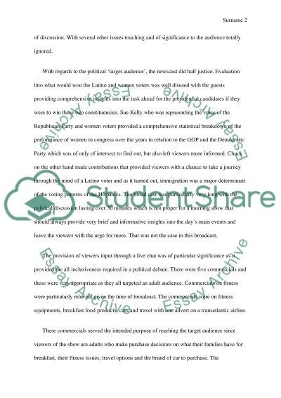 News Media Analysis essay example