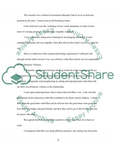Observation and Reflective Feedback Worksheet essay example