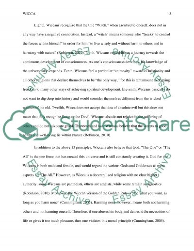 Wicca essay example