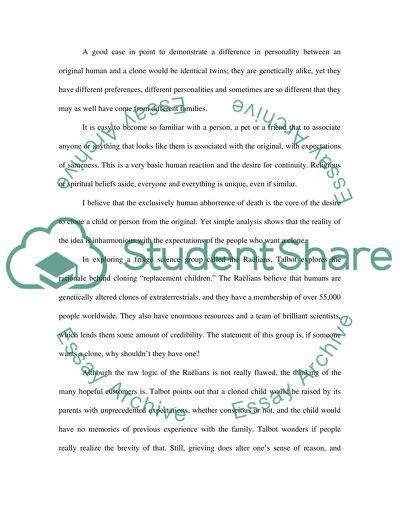 Cloning College Essay