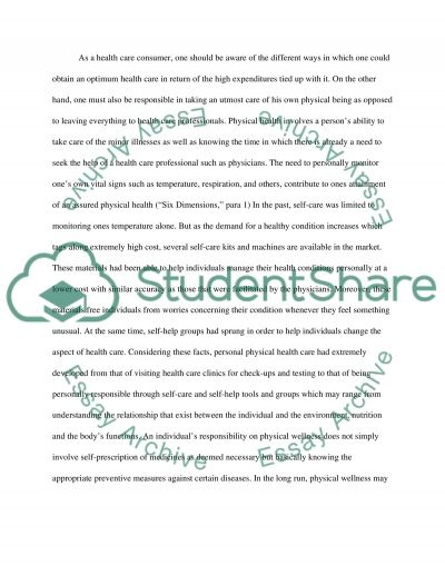 Personal Activity Plan essay example
