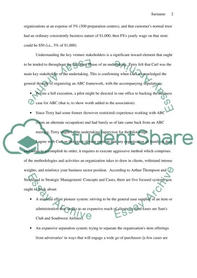 Project Management Case Study essay example