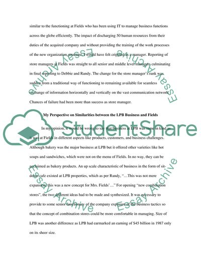 MrsFields case study