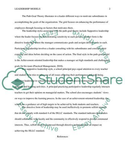 Application of Leadership Models in Schools