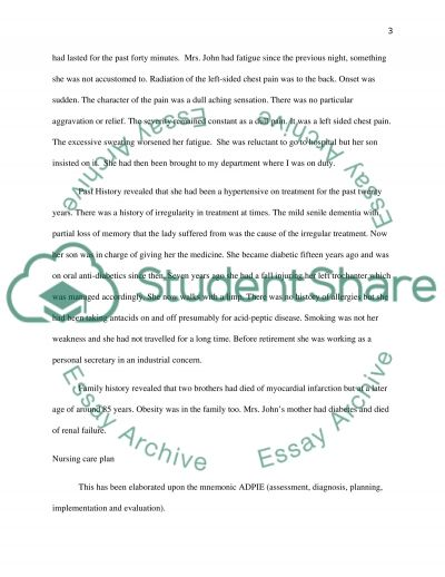 Chest Pain Clinical Examination essay example