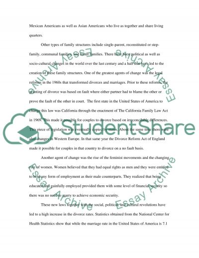 Psychology- oral presentation-change in family structure essay example