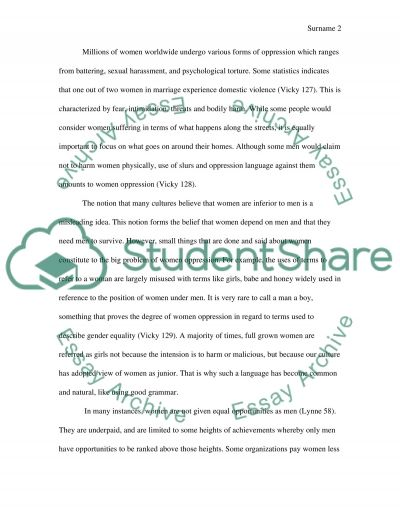Soil Conservation Essay Intersectionality Female Oppression Outlines For Compare And Contrast Essays also Philosophy On Education Essay Intersectionality Female Oppression Essay Example  Topics And Well  Essay On Torture