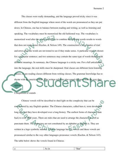 Language Instinct Essay (Chinese and English) essay example
