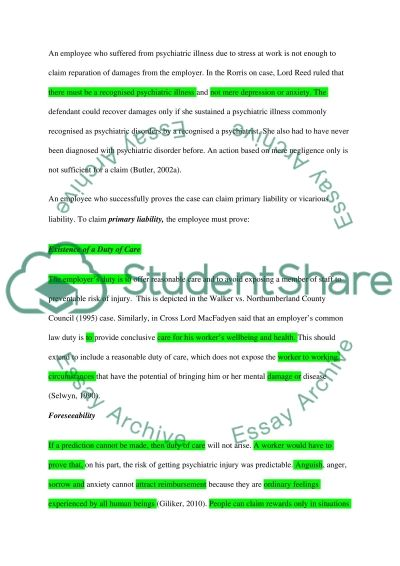 duty of care 3 essay