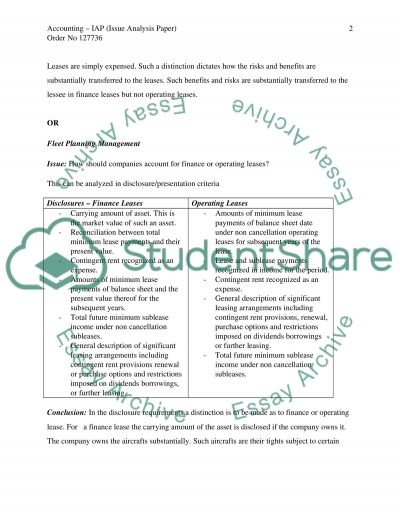 Fleet Planning Management Essay example