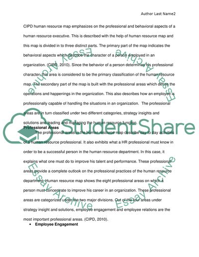 cipd coursework examples