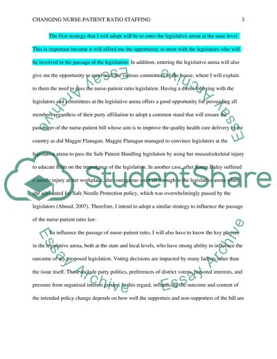Changing Nurse-Patient Ratio Staffing Essay Example | Topics and