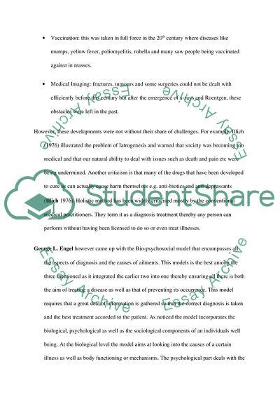 biopsychosocial reflection paper