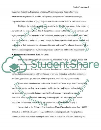 Turbulence Enviroment essay example