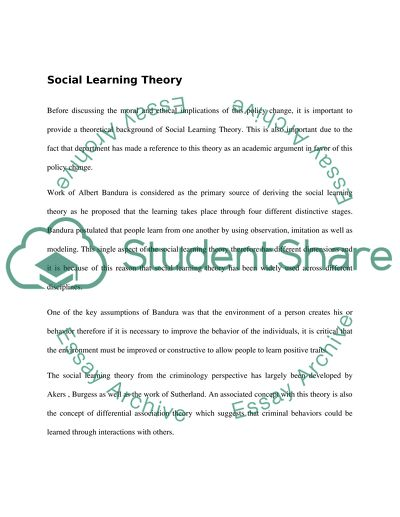 learning theory essay