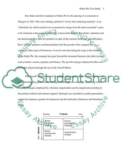 Strategic Management - business environment - success Case Study