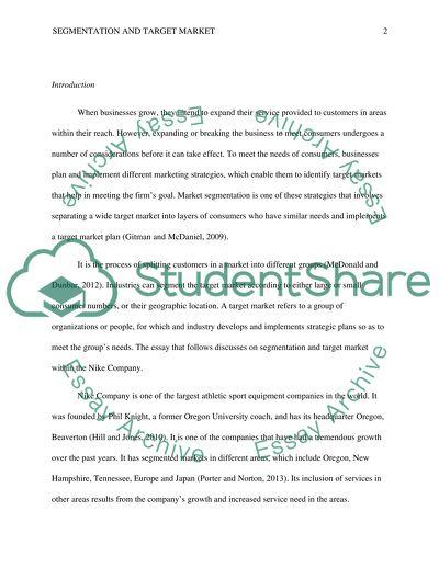 5ce072bc0b8 Segmentation and Target Market Paper Essay Example