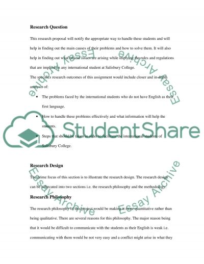 International Students essay example