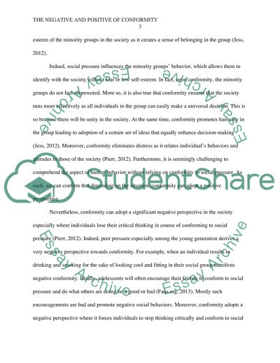 English Essay Writing Help The Negative And Positive Of Conformity  Essay Example Good High School Essays also Essay Mahatma Gandhi English The Negative And Positive Of Conformity Essay Example  Topics And  Essay Research Paper