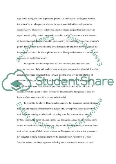 Philosophy Essay on Justice essay example