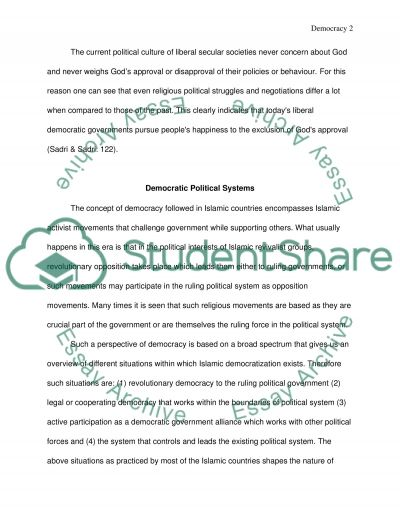Democracy and Religion in Developing Countries essay example