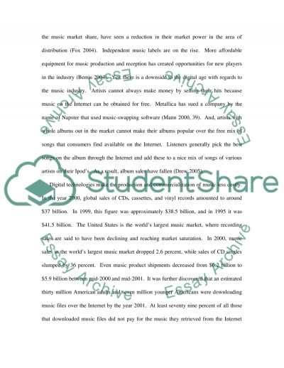 Music Industry and Digital Technology essay example