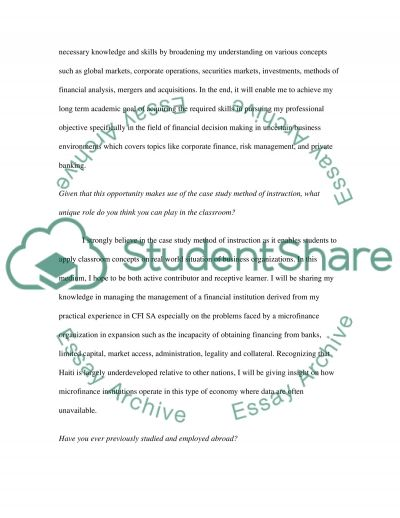 Graduate Diploma in Finance and Banking essay example