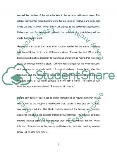 Basic knowledge of Contract Law essay example