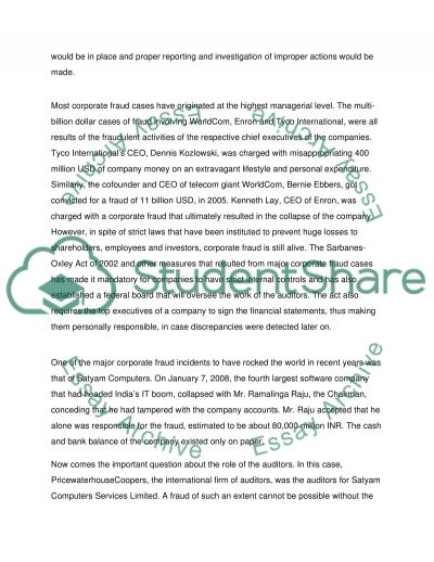 Auditing and Accouning Ethics essay example