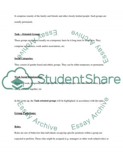 Teamwork in the Workplace essay example
