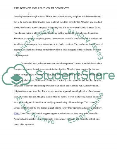 Are Science and Religion in Conflict essay example