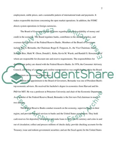 Thesis Examples For Essays The Federal Reserve System Personal Essay Thesis Statement also Topics Of Essays For High School Students The Federal Reserve System Essay Example  Topics And Well Written  Science Fair Essay