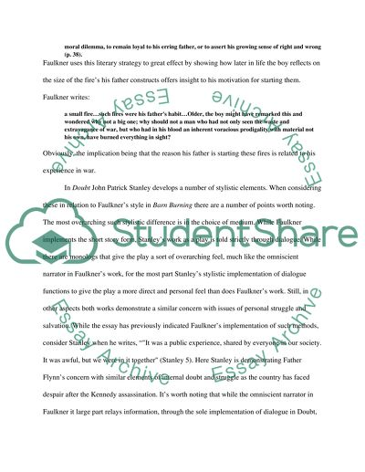 William Faulkners Barn Burning Essay Example | Topics and ...