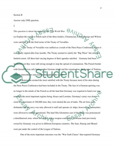 History Structured Essays