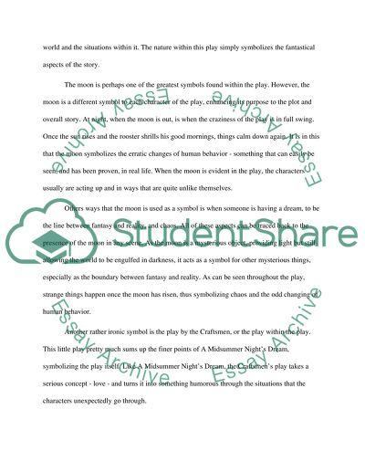 A Midsummer Nights Dream essay example