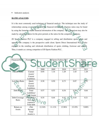 Analytical Procedures Report essay example